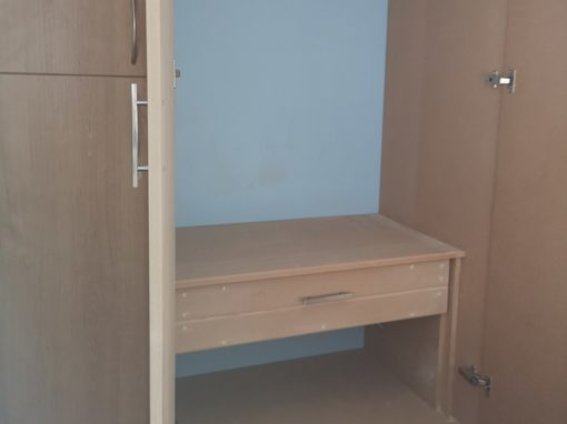 Bespoke timber bedroom units and storage in Hertford