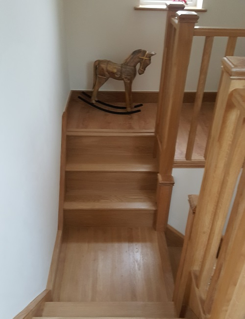 Bespoke wooden staircase in Hertfordshire