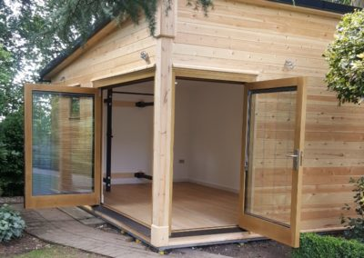 Bespoke timber garden gymnasium