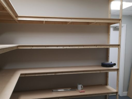 Carpentry for shelving units