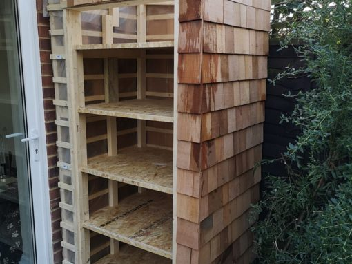 Bespoke timber log stores in Hertfordshire